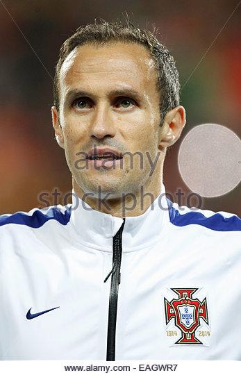 Algarve, Portugal. 14th November, 2014. PORTUGAL, Faro: Portugal's defender Ricardo Carvalho before the UEFA - Stock Image