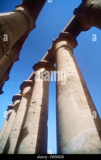 Looking For Stone Columns : Al karnak stock photos images alamy