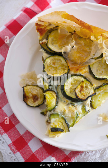 Courgette tarte - Stock Image