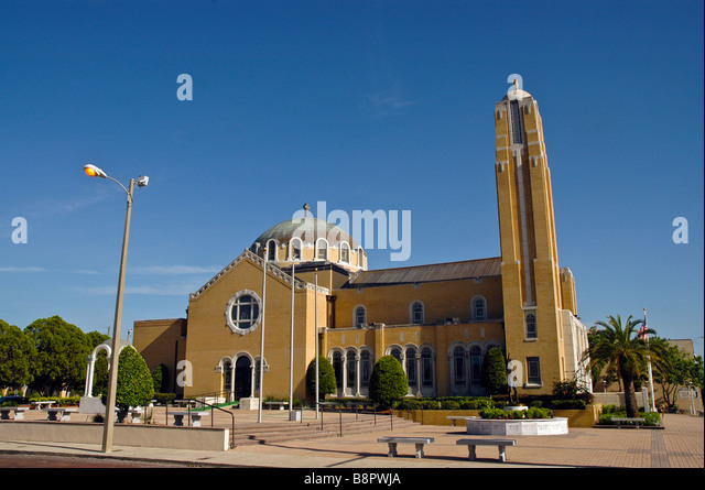 St Nicholas Greek Orthodox Church Cathedral Tarpon Springs FL N Pinellas Avenue Florida - Stock Image