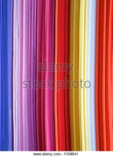 Full Frame Shot Of Textured Multi Colored Wall - Stock-Bilder