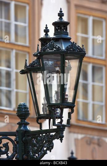 antique gas lamps at the old town square prague czech republic - Stock-Bilder