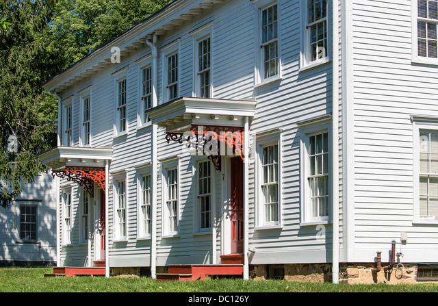 Worker housing, historic Smithville industrial park, Burlington County, New Jersey, USA - Stock-Bilder
