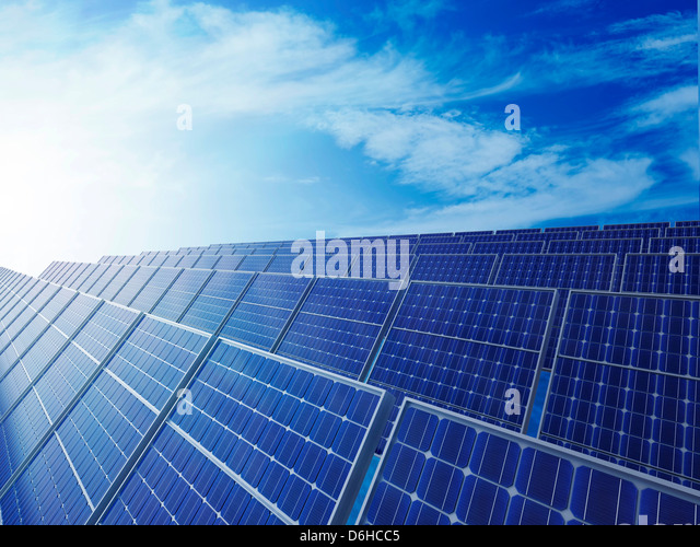 Solar energy, artwork - Stock Image