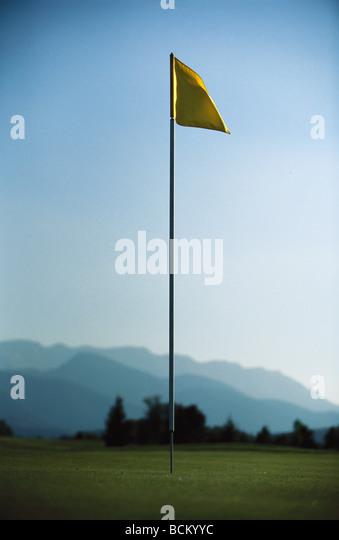 Golf flag - Stock Image