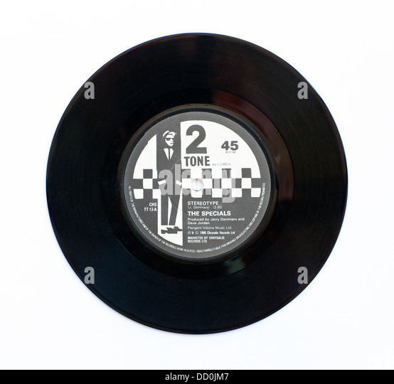 The Specials - Stereotype, 1980 7' single on 2 Tone Records - Stock Image