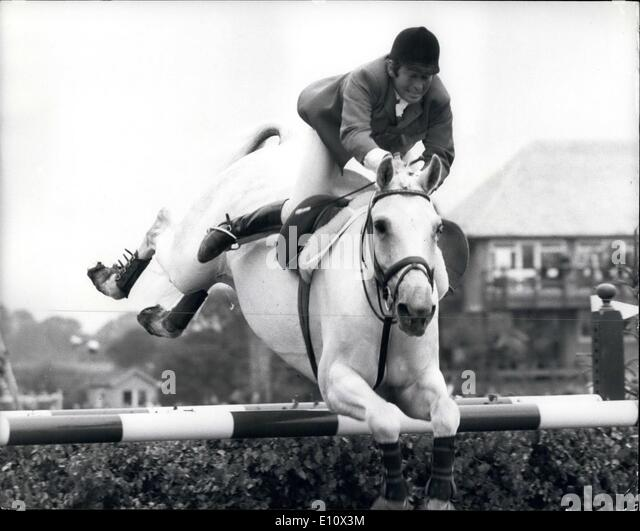 Jul. 07, 1974 - World Show Jumping Championships At Hickstead: Photo shows. (Austria) clears one of the obtstacles - Stock Image