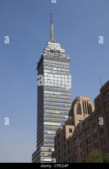 Latin American Tower (Torre Latinoamericana), Historic District, Mexico City, Mexico, North America - Stock Image