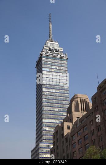 Latin American Tower (Torre Latinoamericana), Historic District, Mexico City, Mexico, North America - Stock Image