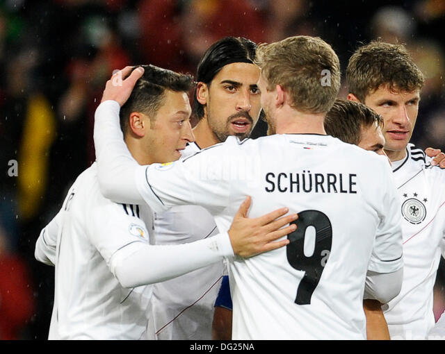 Cologne, Germany. 11th Oct, 2013. Qualifying match for  FIFA Football World Cup 2014 Brasil in RheinEnergie stadium, - Stock Image