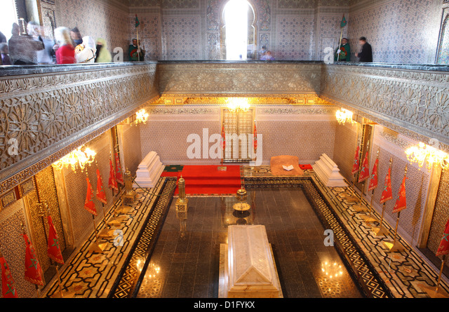 Interior of the Mausoleum of Mohammed V, Rabat, Morocco, North Africa, Africa - Stock Image
