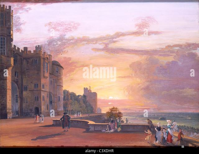 Windsor Castle, by Paul Sandby. England, 18th century - Stock-Bilder