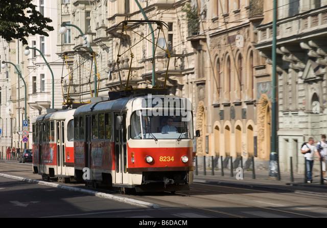 old tram prague street - photo #3