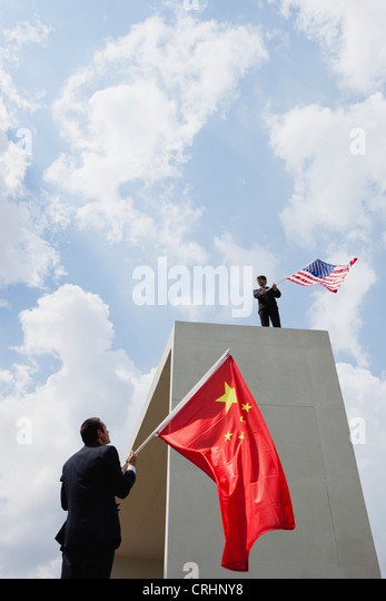 The United States faces China as competitive rival - Stock Image