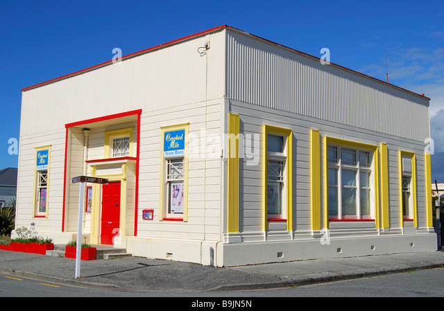 Crooked Mile Talking Movies building, Revell Street, Hokitika, Westland District, West Coast, South Island, New - Stock Image