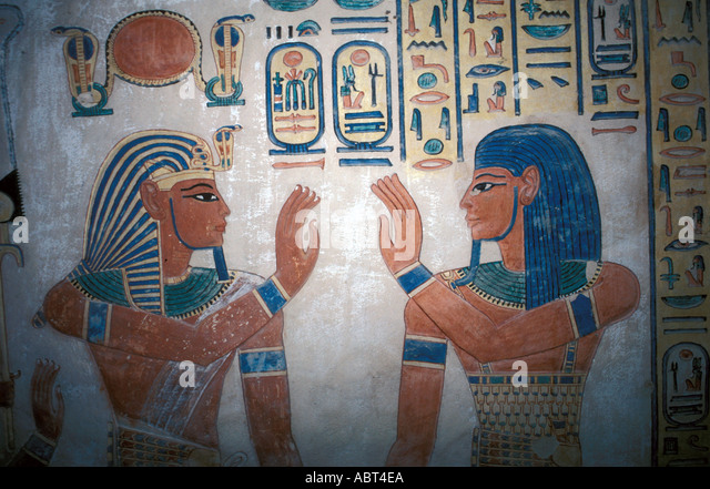 EGYPT Luxor Valley of the Queens Tomb of Prince Amunherkhepsh - Stock Image