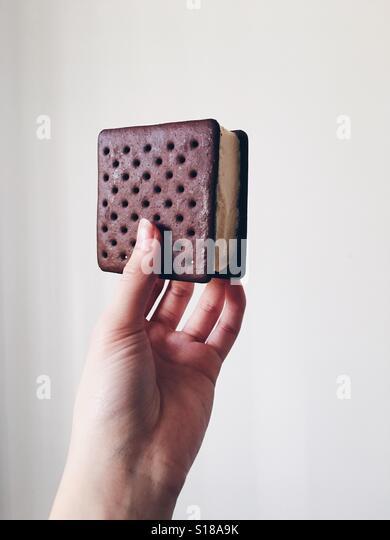Ice cream sandwich. - Stock Image