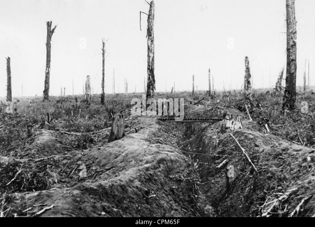 English position on the Somme, 1916 - Stock Image