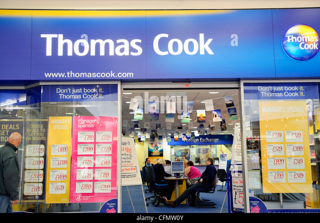 Thomas Cook travel agents at Merry Hill shopping centre, West Midlands, UK. - Stock-Bilder