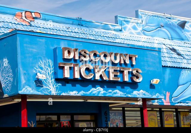Discount ticket shop on International Drive Orlando Florida - Stock Image