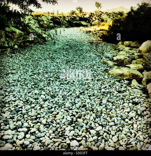 Dry stream - Stock Image