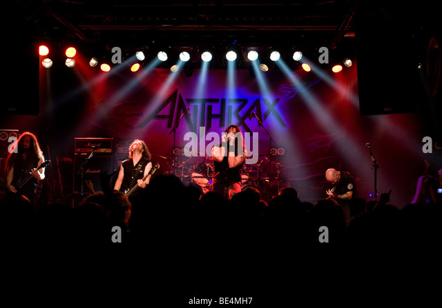 U.S. metal band Anthrax live at the Schueuer, Lucerne, Switzerland - Stock Image