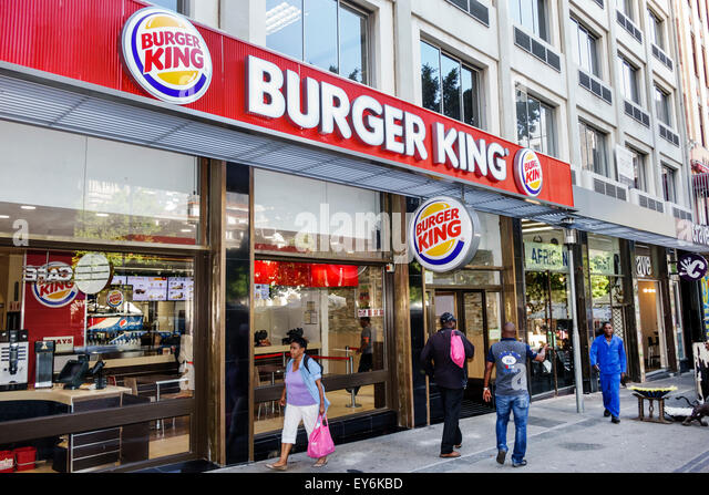 Cape Town South Africa African City Centre center Burger King fast food restaurant outside front - Stock Image