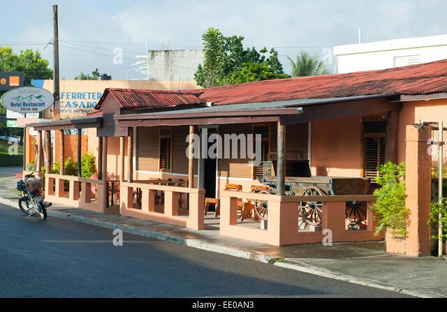 Dominikanische Republik, Südwesten, San Jose de Ocoa, Rancho Arriba, Hotel Tell Alpin - Stock Image