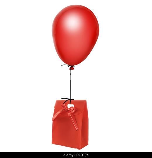 Balloon hanging stock photos balloon hanging stock for Heliumballons duisburg