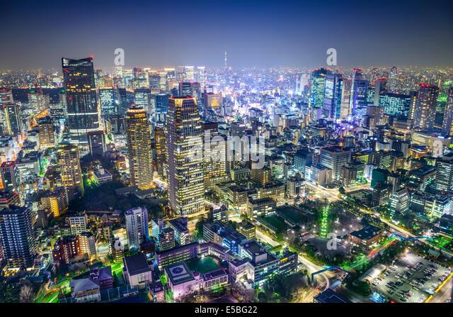 Tokyo, Japan cityscape in the Minato Ward. - Stock-Bilder