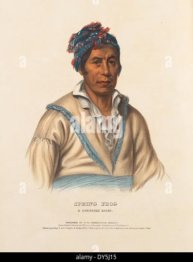 Spring Frog, A Cherokee Chief. - Stock-Bilder