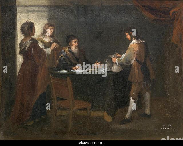 Bartolomé Esteban Murillo - The Prodigal Son Receiving His Patrimony - Stock Image
