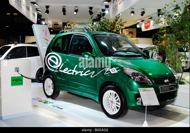 Paris France, French Electric Car Microcar Model 2009 'X TOO R' by Ligier Car Company Ultra Light Vehicle - Stock Image