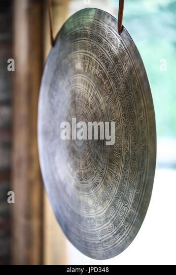 Gong close-up - Stock Image