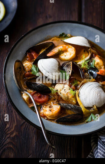 Cioppino fish stew, originating in San Francisco - Stock Image