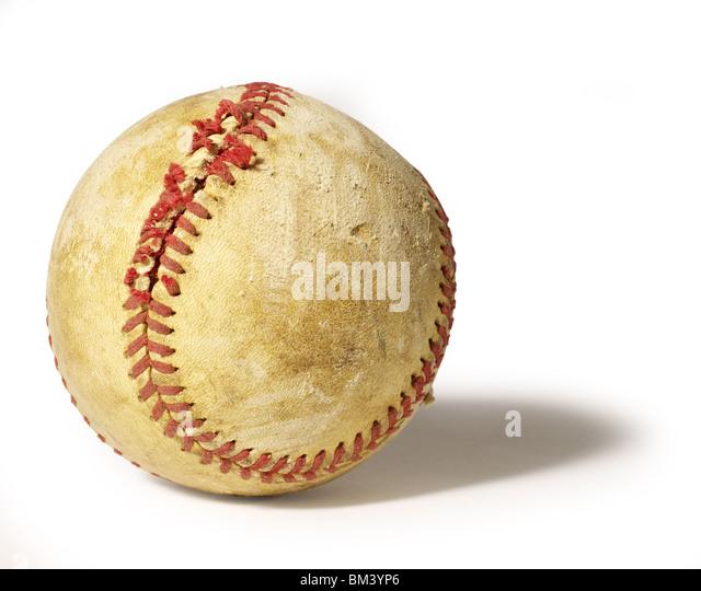 Old Baseball - Stock Image