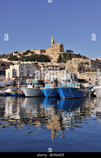 Our Lady of Lourdes Church, Mgarr ferry port, Gozo - Stock Image
