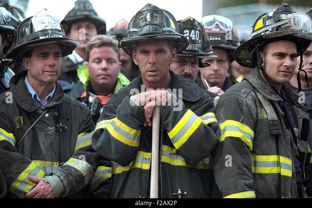 Firemen of the 240th Engine Company during President George W. Bush's visit to Ground Zero. Sept. 14, 2001. - Stock-Bilder