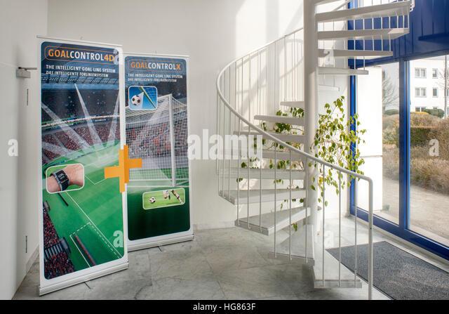 Deutschland, NRW, Städteregion Aachen, Würselen, Firma Goal Control - Stock Image