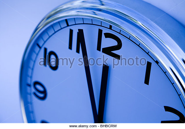accurate business clock deadline hour hours insomnia lunch break lunch time meeting minute minutes night noon precise - Stock Image