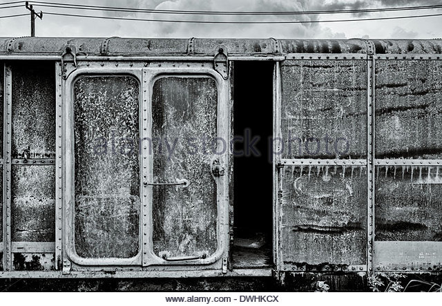 Detail of locomotive rolling stock in the Yan Nawa district of Bangkok, Thailand, South East Asia. - Stock Image