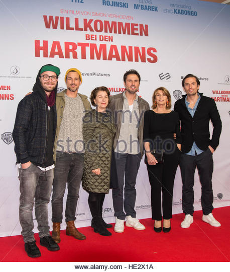 Special Screening of 'Willkommen bei den Hartmanns' at Zoo Palast.  Featuring: Mark Forster, Florian David - Stock Image