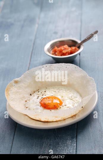sri lankan egg hopper, bittara aappa - Stock Image