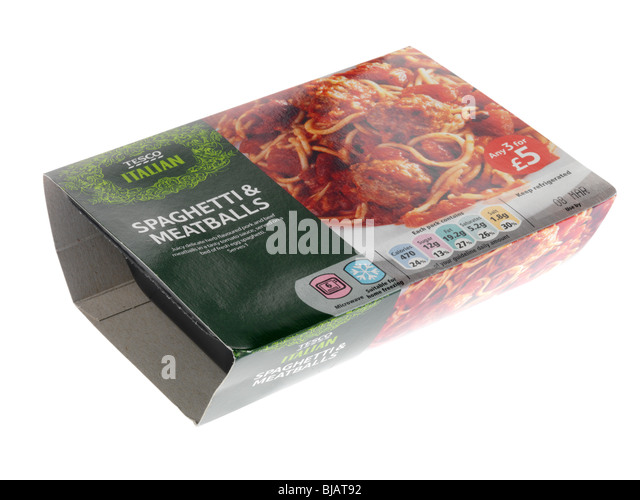 Spaghetti and Meatballs Ready Meal - Stock Image