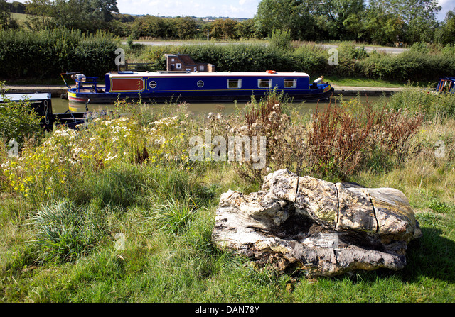 Boats on the Grand Union Canal, Braunston, Northamptonshire, Northants, England, UK, GB, narrowboat, narrowboats, - Stock Image