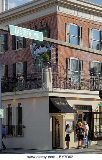 Baltimore Maryland Little Italy Eastern Avenue ethnic neighborhood D'Alesio restaurant dining Italian cuisine - Stock Image