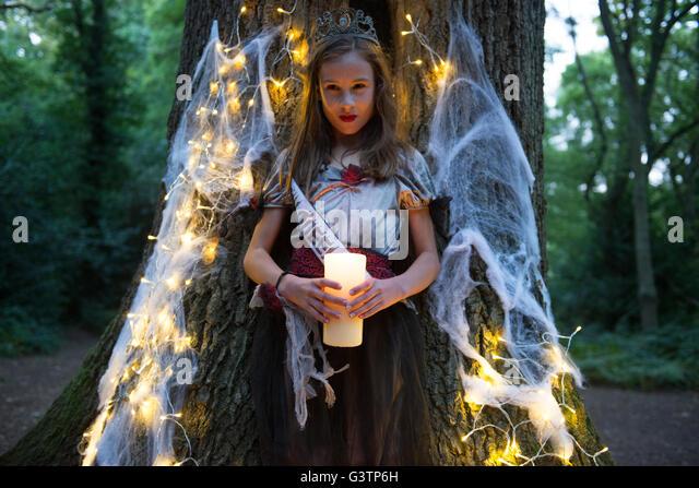 A child dressed in costume for Halloween Night. - Stock-Bilder