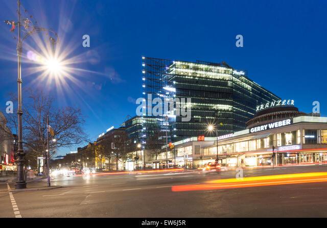 Kurfurstendamm , City West, Cafe Kranzler, Modern Architecture, Berlin - Stock Image