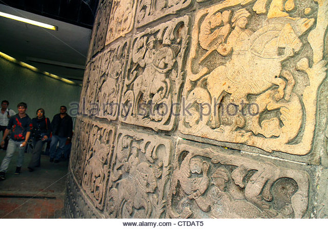 Mexico City Mexico DF D.F. Distrito Federal Metro subway STC mass transit public transportation Insurgentes Station - Stock Image