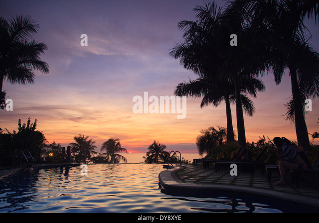 Philippines, Visayas, Boracay Island, Resort overlooking White Beach - Stock-Bilder
